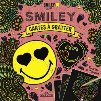 Smiley - Cartes à gratter - Amitié