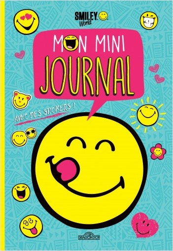 Smiley - Mon mini-journal (bleu)