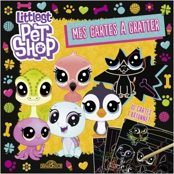 Littlest Pet Shop - Mes cartes à gratter -  jaune