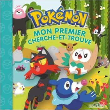 Pokémon - Mon premier cherche-et-trouve - Brindibou, Flamiaou et Otaquin - Tout-carton - Dès 3 ans
