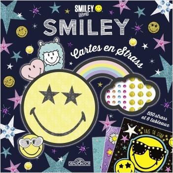 Smiley - Pochette d'activités - Cartes à gratter en strass - Pochette avec 6 cartes et 550 strass - Dès 5 ans