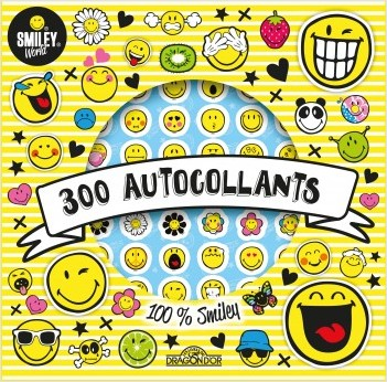 Smiley - Pochette d'autocollants - Mes 300 autocollants 100 % Smiley - Dès 5 ans